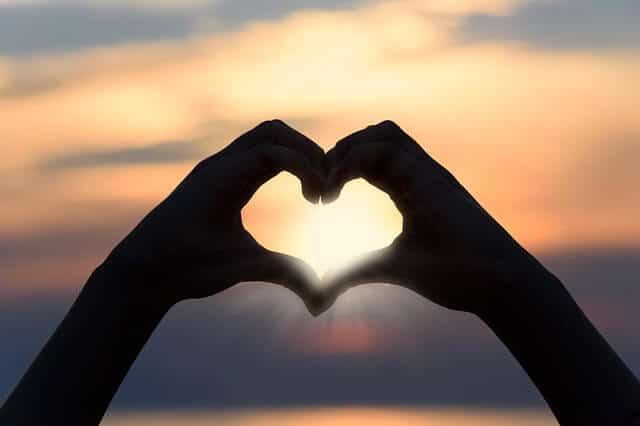 אהבה, שקיעה, נוף