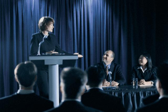 דיבור מול קהל, הרצאה, נאום