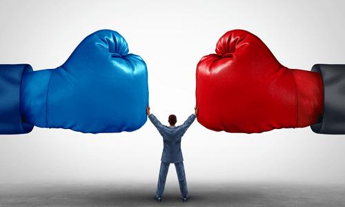 אגרופים, תחרות, לחימה
