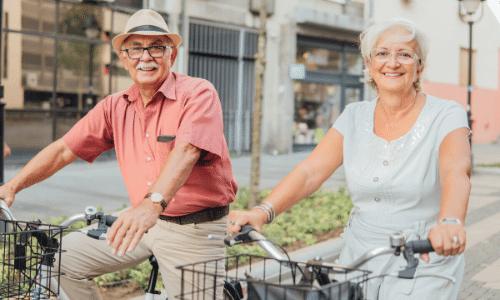 רכיבה על אופניים, זוג מבוגר