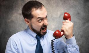 התקפי זעם, כעס בטלפון